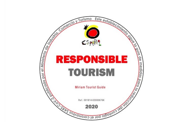 The official responsible tourism stamp certifies that my guided tours and experiences follow the reduction measures for COVID-19.